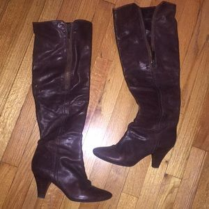 FRYE!!! Over the knee brown leather boots
